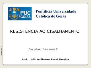 RESIST�NCIA AO CISALHAMENTO