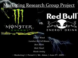 Marketing Research Group Project
