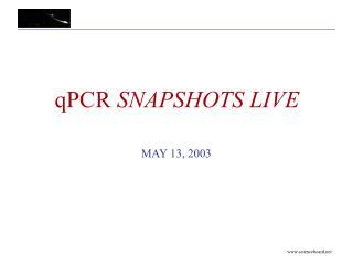 qPCR  SNAPSHOTS LIVE