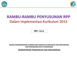 RAMBU-RAMBU PENYUSUNAN RPP Dalam Implementasi Kurikulum 2013
