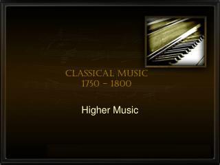 Classical Music 1750 - 1800