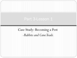 Part 3-Lesson 1