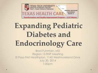 Expanding Pediatric Diabetes and Endocrinology Care