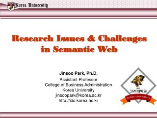 Research Issues & Challenges in Semantic Web
