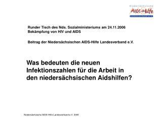 Was bedeuten die neuen Infektionszahlen für die Arbeit in den niedersächsischen Aidshilfen?