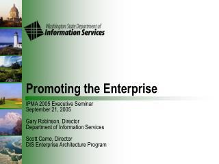 Promoting the Enterprise