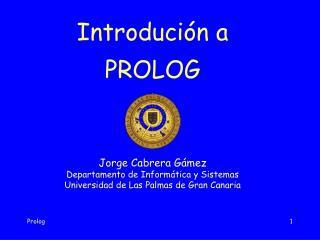 Introdución a PROLOG