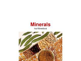 Minerals Iva Klimešová