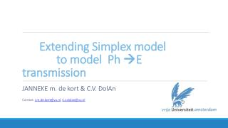 Extending Simplex model	 		to model  Ph   E transmission