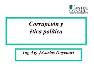 Corrupción y ética política