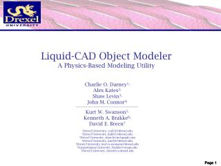 Liquid-CAD Object Modeler A Physics-Based Modeling Utility