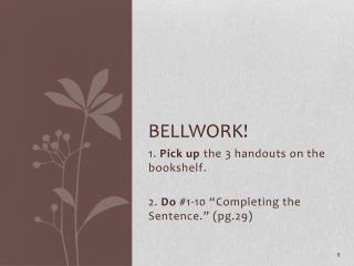 Bellwork !