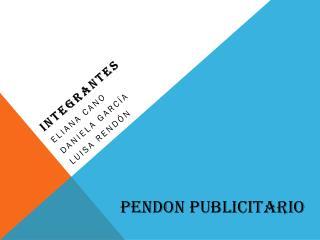 PENDON PUBLICITARIO