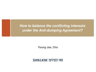 How to balance the conflicting interests  under the Anti-dumping Agreement?