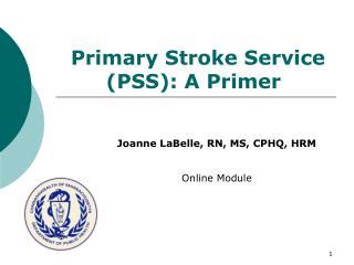 Primary Stroke Service (PSS): A Primer