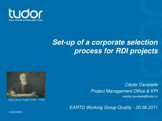 Set-up of a corporate selection process for RDI projects Cécile Cavalade