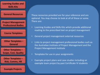 Learning Guides and Skills Kits