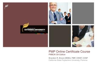 PMP Online Certificate Course  PMBOK 5th Edition
