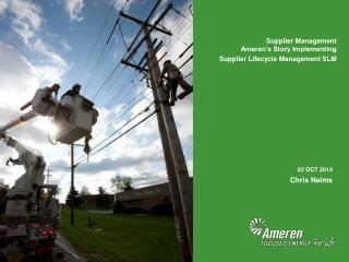 Supplier Management Ameren's Story Implementing Supplier Lifecycle Management SLM