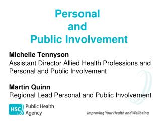 Personal  and  Public Involvement
