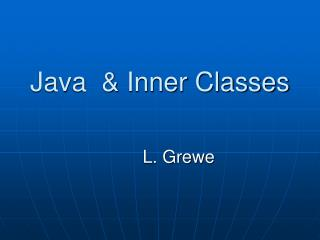 Java  & Inner Classes