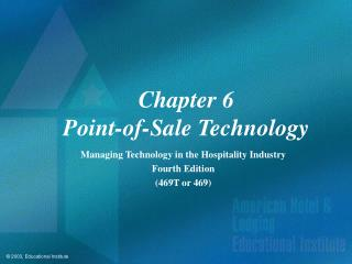 Chapter 6 Point-of-Sale Technology