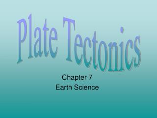Chapter 7 Earth Science