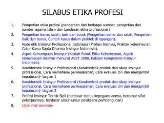 SILABUS ETIKA PROFESI