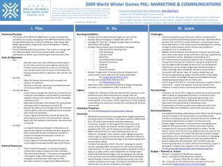 2009 World Winter Games PDL:  MARKETING & COMMUNICATIONS