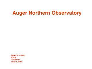 Auger Northern Observatory