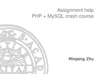 Assignment help  PHP + MySQL crash course