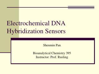 Electrochemical DNA Hybridization Sensors