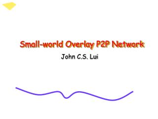 Small-world Overlay P2P Network