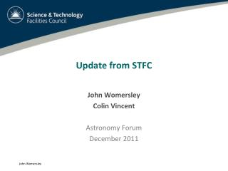 Update from STFC