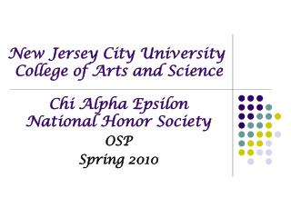 New Jersey City University  College of Arts and Science