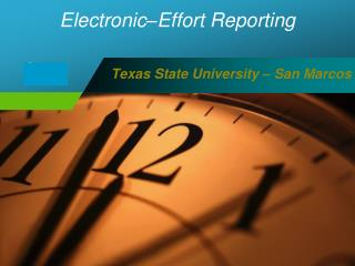 Electronic–Effort Reporting