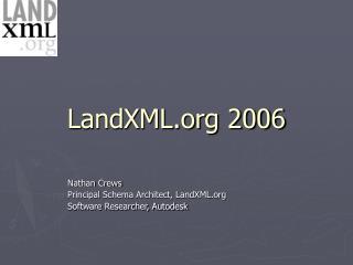 LandXML 2006