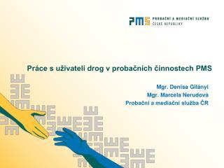 Práce s uživateli drog v probačních činnostech PMS