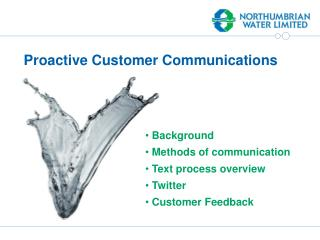 Proactive Customer Communications