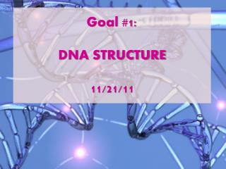 Goal #1:  DNA STRUCTURE 11/21/11