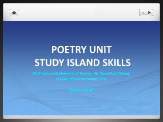 POETRY UNIT  STUDY ISLAND SKILLS