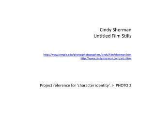 Cindy Sherman Untitled Film Stills