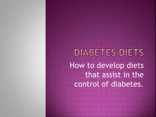 Diabetes Diets