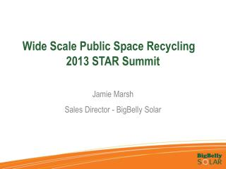 Wide Scale Public Space Recycling	 2013 STAR Summit