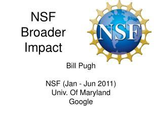 NSF Broader Impact