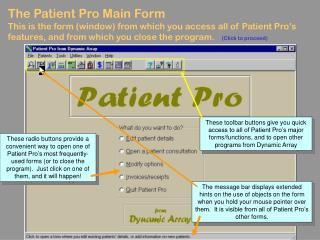 The Patient Pro Main Form