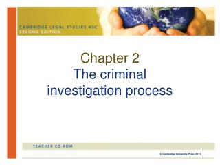 Chapter 2 The criminal  investigation process