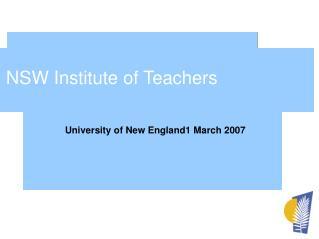 NSW Institute of Teachers