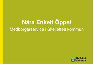 Nära Enkelt Öppet Medborgarservice i Skellefteå kommun