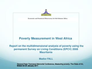 Poverty Measurement in West Africa     Report on the multidimensional analysis of poverty using the permanent Survey on